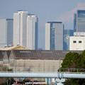 中川運河の東海橋から見た名駅ビル群 - 2