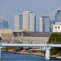 中川運河の東海橋から見た名駅ビル群 - 3