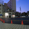 犬山駅前のコンビニ跡地が更地に(2020年2月) - 2