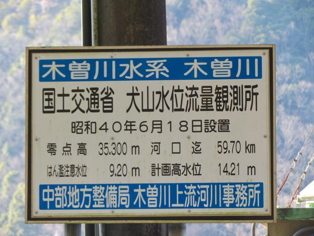 国土交通省 犬山水位流量観測所 - 6