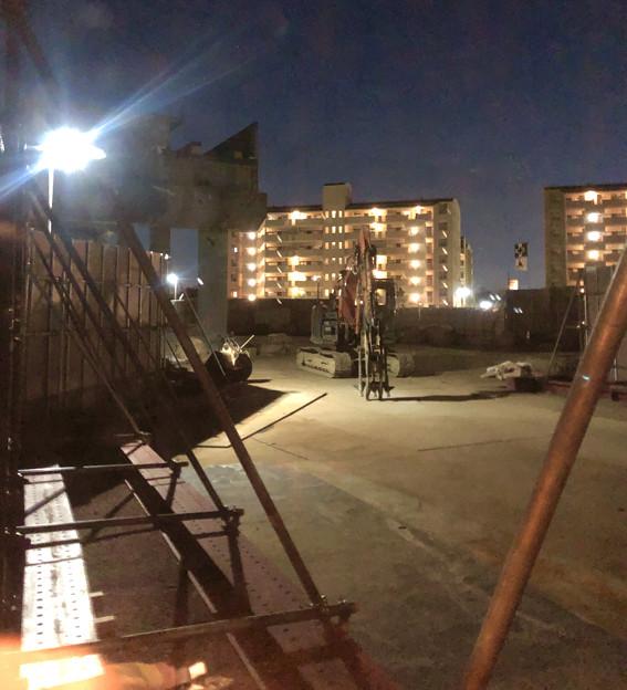 桃花台線の桃花台東駅解体撤去工事(2020年2月27日) - 14:瓦礫もほとんど撤去