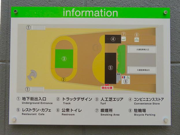 Photos: オープンしたばかりの「ミツコシマエヒロバス」 - 10:施設周辺案内図
