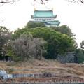 名古屋城:整備中の堀と天守閣 - 2
