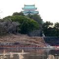 名古屋城:整備中の堀と天守閣 - 3