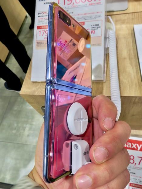 Galaxy Z Flip No - 8:オープン時(背面)