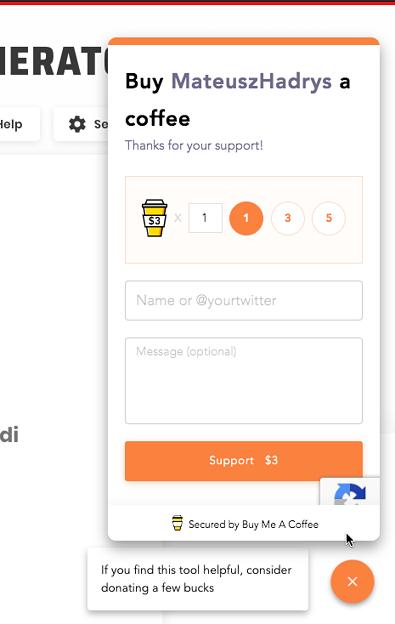 Vivaldi Thumbnail Generator - 11:作者へのコーヒー寄付機能