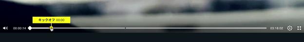 DAZNでサッカー:「キーモーメント」で試合のハイライトや前半開始・終了などのタイムスタンプを表示 - 3(キックオフ)