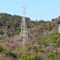 遠くから見たリニア中央線のための送電線鉄塔工事現場 - 14