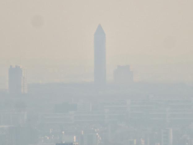尾張白山社から見た東山スカイタワー