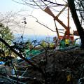 小牧市内の山沿いにあるリニア中央新幹線用送電線建設工事(2020年3月) - 17:工事現場