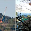 Photos: リニア中央線のための送電線鉄塔工事現場 - 3