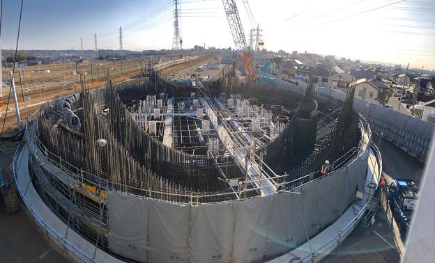 建設中のリニア中央新幹線 神領非常口(2020年3月23日) - 4:パノラマ