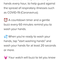 Fitbit Versa:コロナウイルス対策の手洗い推進用の文字盤「Clean Cues」- 4
