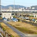 神領車両区越しに見た神領駅の陸橋 - 2