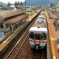 坂祝駅 - 2:停車中の美濃太田方面の電車