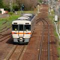 坂祝駅 - 8:美濃太田方面へと発車したJR高山線の車両