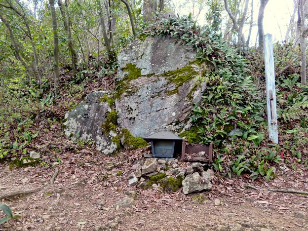 猿啄城展望台の登山道 - 7:山頂付近にあ祠