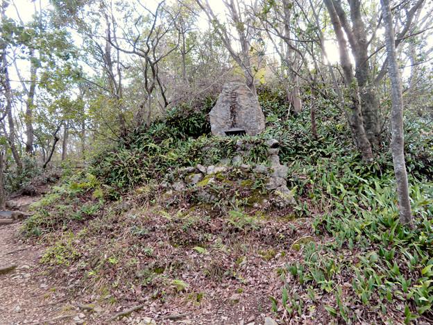 猿啄城展望台の登山道 - 9:山頂付近にあ祠