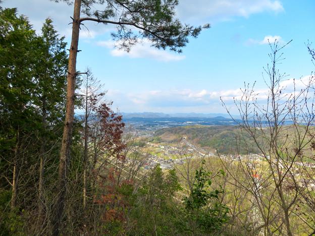猿啄城展望台の登山道から見た景色 - 3