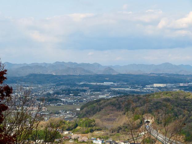 猿啄城展望台の登山道から見た景色 - 4:岐阜県の山々