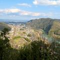 猿啄城展望台の登山道から見た景色 - 5