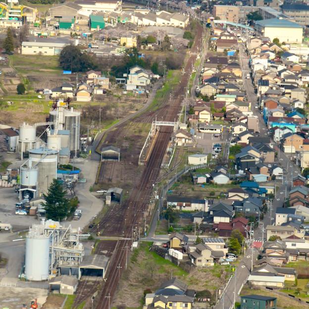 猿啄城展望台の登山道から見た景色 - 7:坂祝駅