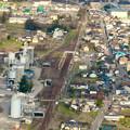 Photos: 猿啄城展望台の登山道から見た景色 - 7:坂祝駅