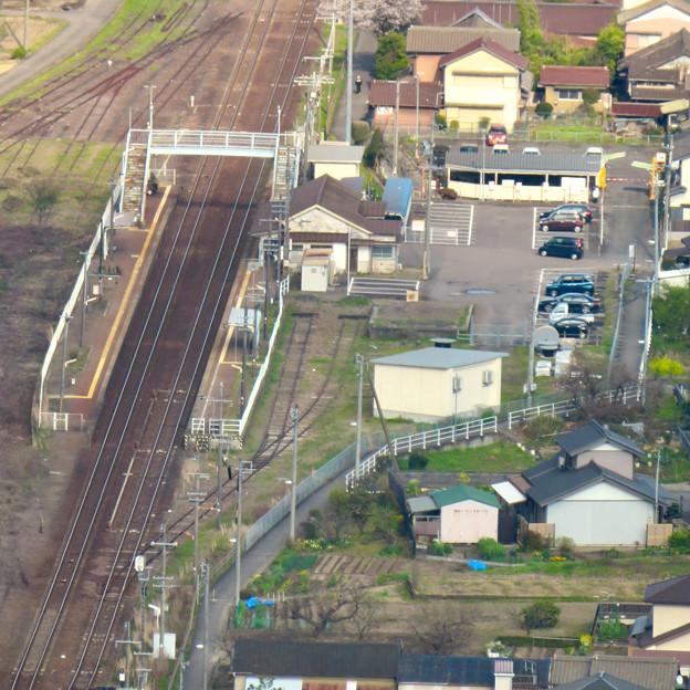 猿啄城展望台の登山道から見た景色 - 8:坂祝駅