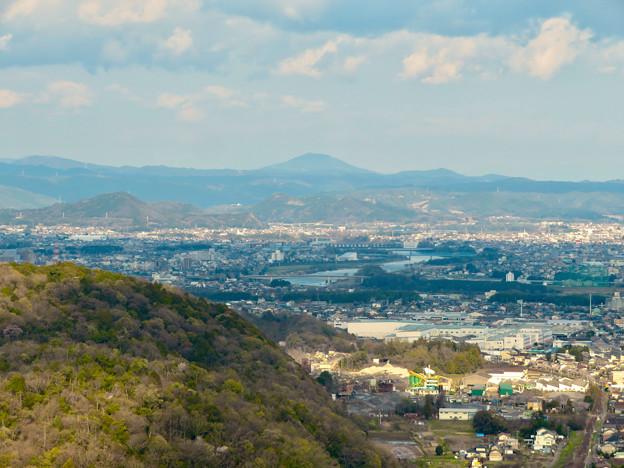 猿啄城展望台の登山道から見た景色 - 9:御嶽山