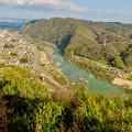 猿啄城展望台から見た景色 - 5:木曽川と犬山北部の山々