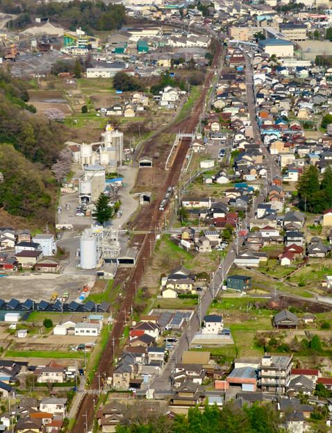 猿啄城展望台から見た景色 - 7:JR高山本線