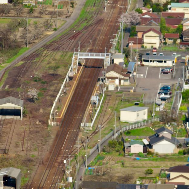 猿啄城展望台から見た景色 - 8:坂祝駅