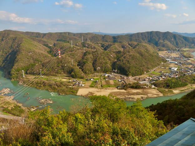 猿啄城展望台から見た景色 - 11:木曽川と犬山北部の山々