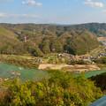 Photos: 猿啄城展望台から見た景色 - 11:木曽川と犬山北部の山々