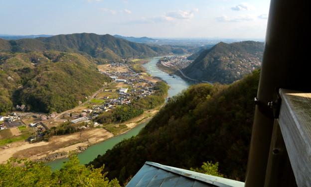 猿啄城展望台から見た景色 - 12:木曽川