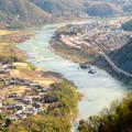 Photos: 猿啄城展望台から見た景色 - 13:春の木曽川沿い