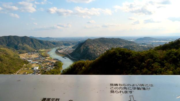 猿啄城展望台から見た景色 - 14:名古屋・各務ヶ原方面