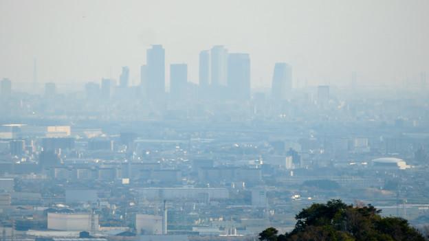 猿啄城展望台から見た景色 - 16:名駅ビル群