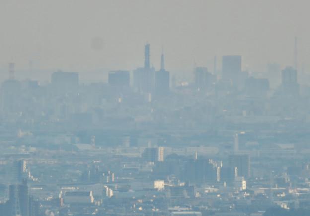 猿啄城展望台から見た景色 - 32:名古屋テレビ塔とNTTドコモ名古屋ビル
