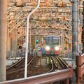 犬山橋を渡る名鉄電車 - 1