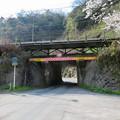 古虎渓駅のホーム下を通る道路 - 2