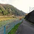 古虎渓駅~古虎渓公園までのルート - 12:JR中央線横の歩道