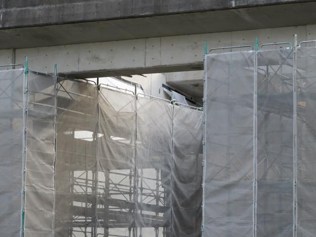解体工事中の桃花台線桃花台東駅(2020年4月11日) - 2