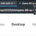 Photos: Opera 68:重複したタブをより強調! - 1
