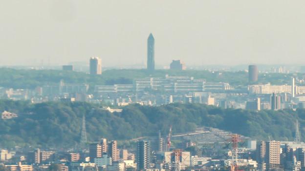 小牧市ふれあいの森:リニア工事で開けた(?)展望スペースから見た景色 - 7(東山スカイタワー)