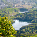 Photos: 弥勒山 山頂展望台から見た景色 - 7:築水池と宮滝大池