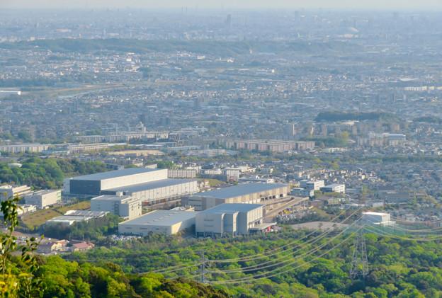 弥勒山 山頂展望台から見た景色 - 14:高蔵寺ニュータウン