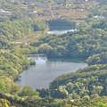 Photos: 弥勒山 山頂展望台から見た景色 - 24:築水池と宮滝大池