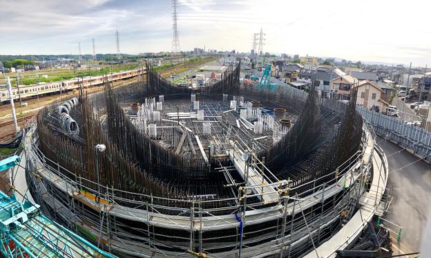 建設中のリニア中央新幹線 神領非常口(2020年5月5日) :パノラマ