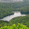 Photos: 弥勒山の登山道にある休憩所から見た景色 - 7:築水池